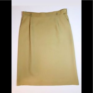 Vintage Koret Tan Pencil Skirt